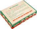 """Baseball Cards:Unopened Packs/Display Boxes, 1952 Topps """"Giant-Size Baseball Cards"""" 5-Cent Retail Wax Box. ..."""