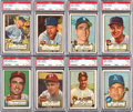 Baseball Cards:Lots, 1952 Topps Baseball High Number PSA EX 5 Collection (8). ...