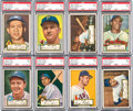 Baseball Cards:Lots, 1952 Topps Baseball First Series - Black Back PSA NM 7 Collection(14). ...