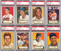 Baseball Cards:Lots, 1952 Topps Baseball First Series - Black Back PSA EX-MT+ 6.5 andPSA EX-MT 6 Collection (29). ...