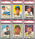 Baseball Cards:Lots, 1952 Topps Baseball PSA NM 7 Collection (12 Different). ...