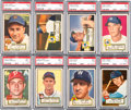 Baseball Cards:Lots, 1952 Topps Baseball PSA NM+ 7.5 and PSA NM 7 Collection (14 Different). ...
