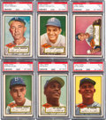 Baseball Cards:Lots, 1952 Topps Baseball High Number Brooklyn Dodgers Collection (6)....