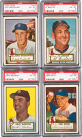 Baseball Cards:Lots, 1952 Topps Baseball High Number PSA EX-MT 6 Collection (4). ...