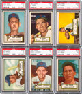 Baseball Cards:Lots, 1952 Topps Baseball High Number PSA EX 5 Collection (6). ...