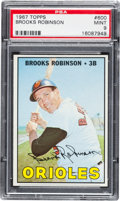 Baseball Cards:Singles (1960-1969), 1967 Topps Brooks Robinson #600 PSA Mint 9....