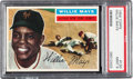 Baseball Cards:Singles (1950-1959), 1956 Topps Willie Mays (Gray Back) #130 PSA Mint 9 - None Higher....