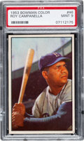Baseball Cards:Singles (1950-1959), 1953 Bowman Color Roy Campanella #46 PSA Mint 9 - None Higher....