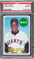 Baseball Cards:Singles (1960-1969), 1969 Topps Willie Mays #190 PSA Mint 9 - Only Two Higher. ...