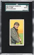 Baseball Cards:Singles (Pre-1930), 1909-11 T206 Piedmont Ty Cobb (Bat On Shoulder) SGC 88 NM/MT 8. ...