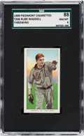 Baseball Cards:Singles (Pre-1930), 1909-11 T206 Piedmont Rube Waddell (Throwing) SGC 88 NM/MT 8 - TheFinest T206 Waddell on the SGC Census! ...