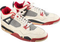 Basketball Collectibles:Publications, 1989 Michael Jordan Signed Game Worn Sneakers from His 54-Point Game Versus the Cleveland Cavaliers.. ...