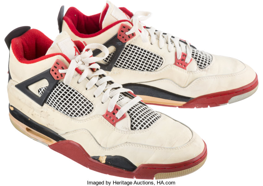 best sneakers 0fdab 3a31c ... Basketball Collectibles Publications, 1989 Michael Jordan Signed Game  Worn Sneakers from His 54- ...
