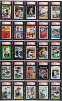 1961-90 Brooks Robinson Signed SGC Authentic Cards Lot of 25 from The Brooks Robinson Collection