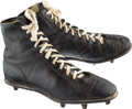 Football Collectibles:Uniforms, 1972 Johnny Unitas Game Worn Cleats from His Last Game with Baltimore Colts....