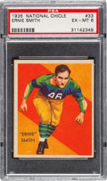 Football Cards:Singles (Pre-1950), 1935 National Chicle Ernie Smith #33 PSA EX-MT 6. ...