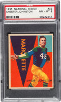 Football Cards:Singles (Pre-1950), 1935 National Chicle Chester Johnston #32 PSA NM-MT 8 - Only TwoHigher. ...
