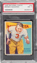 Football Cards:Singles (Pre-1950), 1935 National Chicle Bronko Nagurski #34 PSA NM 7....