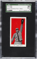"""Baseball Cards:Singles (Pre-1930), 1910 E98 """"Set of 30"""" Ty Cobb - Red (Black Swamp) SGC 96 Mint 9 -Pop Two, One Higher. ..."""