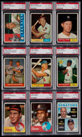 Baseball Cards:Lots, 1960-64 Topps Baseball Graded Collection (9) With HoFers....