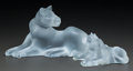 Art Glass:Lalique, Two Lalique Frosted Glass Lion Groups. Both groups come in originalLalique boxes.. Late 20th century. Engraved Lalique, F...(Total: 2 Items)