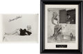 Movie/TV Memorabilia:Autographs and Signed Items, A Jayne Mansfield and Carroll Baker Pair of Signed Photos, Circa1950s-60s.... (Total: 3 )