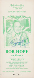 Music Memorabilia:Autographs and Signed Items, Bob Hope Signed Flyer....