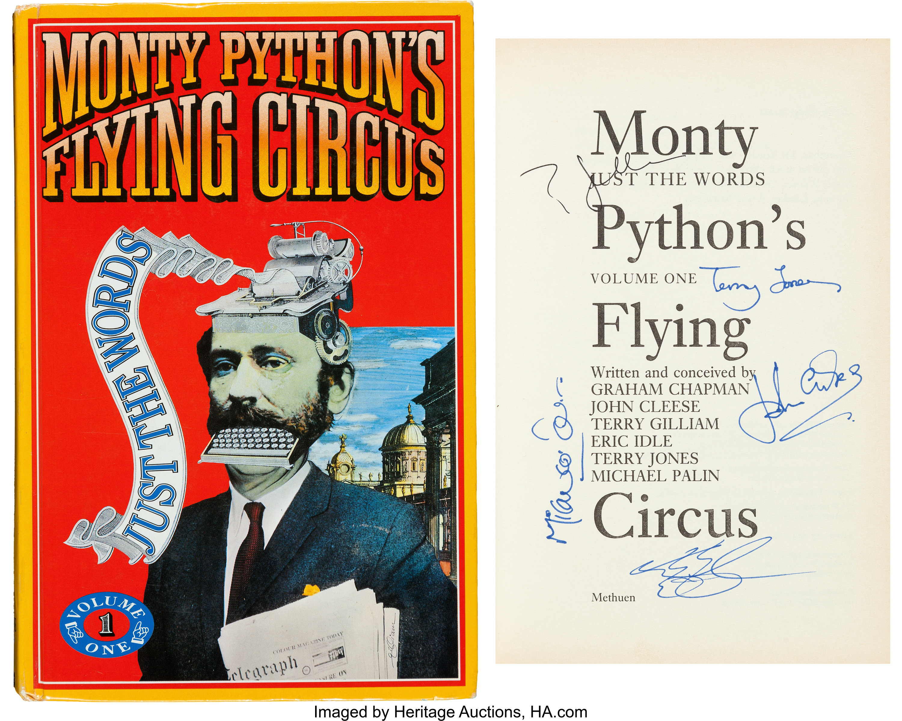 A Monty Python Cast Signed Copy Of Monty Python S Flying Circus Lot 89695 Heritage Auctions