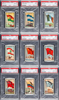 "Non-Sport Cards:Sets, 1963 Topps Midgee ""Flags of The World"" High Grade Complete Set(99). ..."