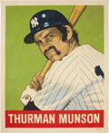 "Baseball Collectibles:Others, 2016 Thurman Munson 1948 Leaf ""Card That Never Was"" OriginalArtwork by Arthur Miller. ..."