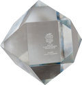 Miscellaneous Collectibles:General, 1986 Tidal Handicap Crystal Octagon Won by Proud Truth....