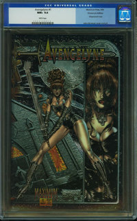Avengelyne 1 Chromium Cover - CHROMIUM EDITION (Maximum Press, 1995) CGC NM+ 9.6 White pages