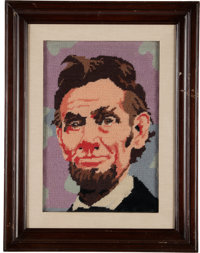 An Ernest Borgnine Group of Abraham Lincoln Collectibles, 1860s