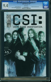 CSI: Crime Scene Investigation #1 (IDW Publishing, 2003) CGC NM 9.4 White pages