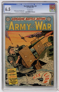 Our Army at War #20 (DC, 1954) CGC FN+ 6.5 Off-white pages