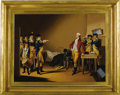 "Antiques:Decorative Americana, Oil Painting, ""The Death Warrant of Major André"" after AlonzoChappel c.1880...."