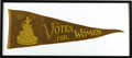 Political:Small Miscellaneous (1896-present), Spectacular Woman Suffrage Party Pennant...