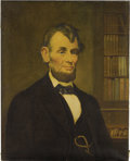 "Political:3D & Other Display (pre-1896), Oil Painting, ""Abraham Lincoln"" by D. W Stokes, c.1910...."