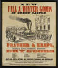 Antiques:Posters & Prints, Antebellum Large and Colorful Steam Locomotive-Illustrated DryGoods Broadside....
