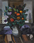 Fine Art - Painting, European:Modern  (1900 1949)  , CONSTANTINE CHERKAS (Russian b.1919). Still Life with a View, 1976. Oil on canvas. 30 x 24 inches (76.2 x 61.0 cm). Sign...