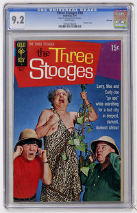 Three Stooges #50 File Copy (Gold Key, 1971) CGC NM- 9.2 White pages