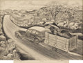 Texas:Early Texas Art - Regionalists, MERRITT MAUZEY (1897-1973). Texas Highway. Lithograph onpaper. 10 x 14 inches (25.4 x 35.6 cm). Signed lower right. Tit...