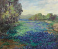 Texas:Early Texas Art - Impressionists, JOHN MODESITT (b. 1955). Glorious Country-Texas Blue Bonnets. Oil on canvas. 18 x 22 inches (45.7 x 55.9 cm). Signed low...
