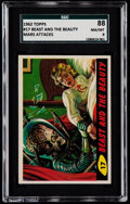 "Non-Sport Cards:General, 1962 Topps Mars Attacks ""Beast and The Beauty"" #17 SGC 88 NM/MT8...."