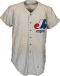 Baseball Collectibles:Uniforms, 1970-72 Montreal Expos #44 Flannel Jersey from The Gary Carter Collection. ...