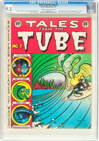 Tales from the Tube #1 (Print Mint, 1972) CGC NM- 9.2 Cream to off-white pages