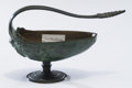 Bronze:European, A Small French Bronze Vessel after Ferdinand Levillain, Paris,France, late 19th century. Marks: F. LEVILLAIN . 4-1/2 in...