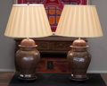 Asian, A Pair of Chinese Sang de Boeuf Ginger Jars Mounted asLamps. 25 inches high (63.5 cm). ... (Total: 2 Items)