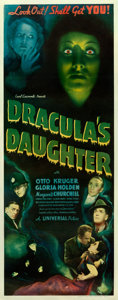 "Movie Posters:Horror, Dracula's Daughter (Universal, 1936). Insert (14"" X 36"").. ..."