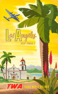 "Movie Posters:Miscellaneous, TWA Los Angeles (c. Late 1950s). Bob Smith Full-Bleed Poster (25"" X40"").. ..."